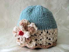 Knitting Pattern for Baby HatChildren by CottonPickings on Etsy