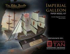 Elder Scrolls Online - Imperial Galleon Papercraft by RocketmanTan