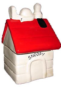 mccoy-cookie-jar...McCoy Cookie Jars  manage to capture the era through the years.  When I look at the Snoopy Cookie Jar, I immediately think of and remember the late 1960s