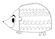 Hedgehog Coloring Pages for Kids - Preschool and Kindergarten Color Worksheets For Preschool, Preschool Writing, Numbers Preschool, Tracing Worksheets, Preschool Letters, Preschool Printables, Kindergarten Worksheets, Preschool Activities, Tracing Letters