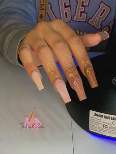 Brown Acrylic Nails, Bling Acrylic Nails, Drip Nails, Simple Acrylic Nails, Square Acrylic Nails, Best Acrylic Nails, Gel Nails, Acylic Nails, Cute Acrylic Nail Designs