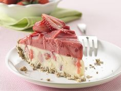 Healthified Frozen Strawberry Cheesecake