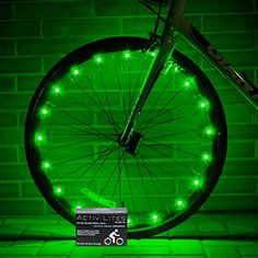 Super Cool LED Bike Wheel Lights - Best Christmas Gifts & Birthday Presents for Boys Girls and Fun Adults. BATTERIES INCLUDED! Get 100% Brighter & Safe Bicycle Spokes Rims & Tires (1 pk) (Green) * Learn more by visiting the image link.