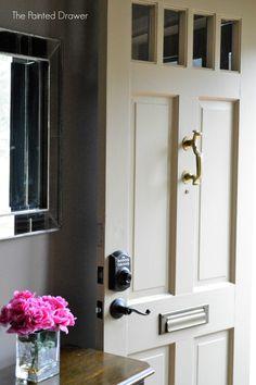 New Keypad Front Door Lock and One-Way Screws? Schlage, Door Handles, Front Door, Front Door Locks, Fronts, Framed Bathroom Mirror, Schlage Locks, Keyless Locks, Doors