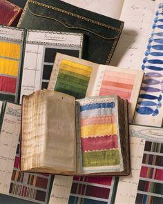 Pattern book of the Emanuel Hoffmann silk ribbon factory c1770-80 Basle, Switzerland Inv. 1880.170.