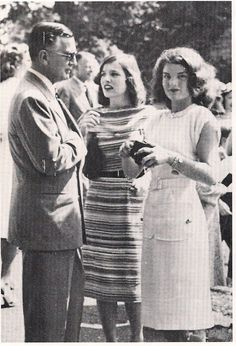 Jackie and Lee with their father - Black Jack Bouvier