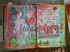 reusing an old book... painting the pages and creating an artful journal-- COOOL!
