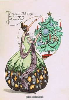 1000 Images About 1920s Christmas Cards On Pinterest