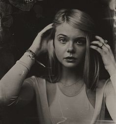 iamamymichelle:  Tintype of Elle Fanning  Photo by Victoria Will at Sundance for Esquire
