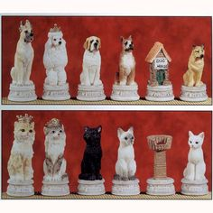 Dog, Cat Chess Set