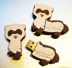 Own your own Ferret USB Drive that holds 1 GB of storage. While supplies last!