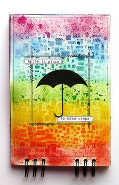 Les créations de mariemily: Page 4 de mon art journal / Page 4 of my art journal