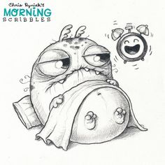 https://flic.kr/p/M7djc3 | The struggle is real. ⏰ #morningscribbles