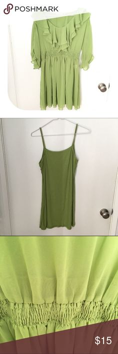Three piece dress dress cotton long tank and belt Gently worn. Bundle discount 15%. Size M here is what it fits. I am normally a size M Dresses Midi