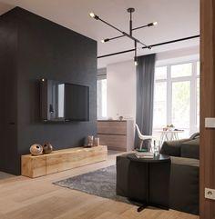 Small apartment renderings for design studio on Behance