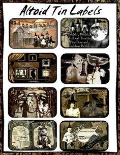 Altoids Tin Labels ~ Spooky Halloween
