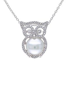 Take a look at this Delmar Pearl & Sterling Silver Owl Pendant Necklace on zulily today! Owl Jewelry, Gems Jewelry, Animal Jewelry, Cute Jewelry, Jewelery, Jewelry Accessories, Funky Jewelry, Diamond Jewelry, Owl Necklace