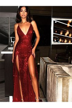 Princess Prom Dresses, Elegant Spaghetti Straps Tight Split Dark Red Sequined Prom Evening Party Dresses, Plus Size Formal Dresses and Plus Size Party Dresses are great for your next special Occassion at cheap affordable prices The Dress Outlet. Formal Dresses Uk, Cheap Prom Dresses Uk, Evening Dresses Uk, Open Back Prom Dresses, Sexy Evening Dress, Beautiful Prom Dresses, Elegant Dresses, Homecoming Dresses, Long Party Dresses