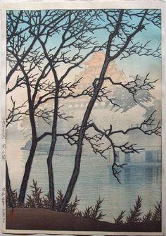 Kawase Hasui (1883-1957): Okayama Castle, 1934