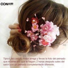 #tipico #peinado #belleza #salon #boda #amigas #flores #vestido #fiesta