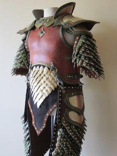 LARP costume Swordsinger assembly 2 by Flacusetarhadel Larp Armor, Knight Armor, Medieval Armor, Medieval Fantasy, Chainmail Armor, Viking Armor, Costume Armour, Centaur Costume, Dragon Costume
