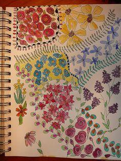 Colorful Flower Doodle