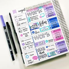 ers, 665 ing, Posts - See photos and videos from Cindy Guentert-Baldo (llamaletters) Cute Planner, Planner Layout, Goals Planner, Planner Pages, Happy Planner, Work Planner, Planner Diy, Planners, Passion Planner