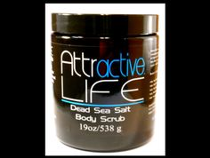 Attractive Life Dead Sea Salt Scrubs and Bath salts are made with mineral rich Dead Sea Salt and all natural oils. Enjoy the benefits of the Dead Sea. Dead Sea Salt Scrub, Sea Salt Body Scrub, Sea Salt Scrubs, Skin Specialist, Bath Salts, Natural Oils, Good Skin, Life, Skin Care