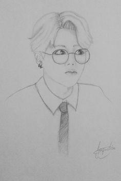 Drawings Pencil Rapmon Bts Drawing Chibi Www Picturesso Com