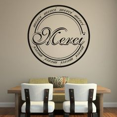 Merci Badge Wall Art Sticker #Decorative, #Quality, #Sticker, #Vinyl, #Wall