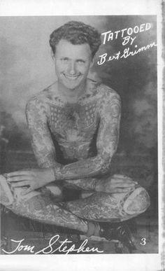 Tom Stephen - Tattooed by Bert Grimm Vintage Tattoos, Old Tattoos, Tattoo Pics, Tattoo You, Picture Tattoos, Body Art Tattoos, Tatoos, Tattoo Ideas, Traditional Ink
