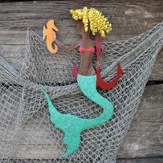 Whimsical Metal Art. Handmade Mermaid Wall Art.
