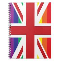 GAY UK (BRITISH FLAG) Photo Notebook $14.95 #notebook #gay #british #zazzle #gayriot http://zazzle.com/gay_uk_british_flag_photo_notebook-130036255668675610?rf=238202880278685137