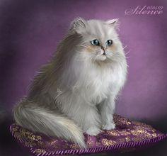 Persian Cat Artwork | Persian cat by Tashati