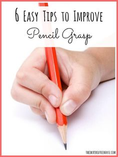 6 easy tips for a better pencil grasp and week 2 of The PenPal Project:  printable writing prompts for kids!