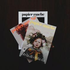 papier mache mag issues 2, 3 & 4 | instagram by @luisabrimble