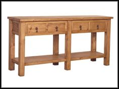 This big mexican rustic pine console table is solid wood with traditional accents. * Extra Large packaging fees may apply.