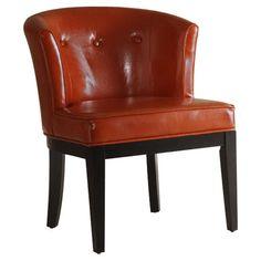 Found it at AllModern - Ovation Leather Arm Chair http://www.allmodern.com/deals-and-design-ideas/p/Design-Duo%3A-Leather-%26-Metal-Ovation-Leather-Arm-Chair~ARA1174~E17544.html?refid=SBP.rBAZEVS8EeOBIhUSQtyrAh4kMswUn0A_svaYVt0CatA