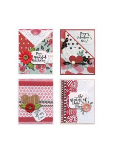 February 2019 Card Kit by JenUngerFineArts on Etsy Craft Kits, Diy Kits, Card Kit, Paper Decorations, Pattern Paper, Diy Cards, Mini Albums, Birthday Cards, Christmas Crafts