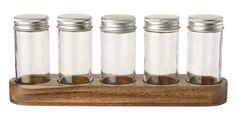 Set condimente Villeroy & Boch Pasta 2015 Oakwood cu suport lemn