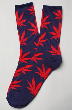 $12 The Plant Life Socks in Navy & Red by HUF #BRICKHARBOR - Use repcode SMARTCANUCKS for 20% off