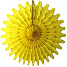 Yellow 18 inch tissue fans with a classic perforated design. Perfect for your reusable party backdrops. Made in USA by Devra Party. Yellow Party Decorations, Tissue Paper Decorations, Cloud Party, Tropical Bridal Showers, Tropical Party, Paper Balls, Yellow Paper, Beverage Napkins, Backdrops For Parties