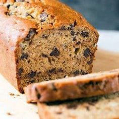 A recipe for a moist, delicious Peanut Butter-Banana Bread with Chocolate Chips. White Chocolate Bread Pudding, Peanut Butter Banana Bread, Bread And Butter Pudding, Chocolate Chip Recipes, Chocolate Hazelnut, Banana Bread Recipes, Chocolate Chips, Pudding Recipes, Yummy Food