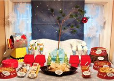 Charlie Brown celebration. I can't stand how adorable this is!! So cute for a kids party.