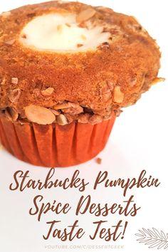 Let's Taste Test ALL The Starbucks Pumpkin Spice Desserts!