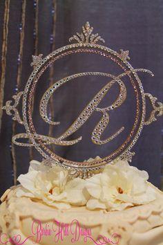 items similar to 6 custom crystal monogram cake topper letter r on etsy
