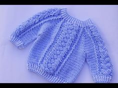 Baby jersey to crochet very easy - YouTube
