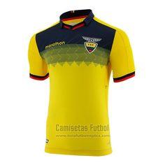 Tailandia Camiseta Ecuador Primera 2019   futbol replicas Fifa World Cup 2018, Sports Jersey Design, Ecuador, Polo Ralph Lauren, Football, Mens Tops, T Shirt, Logos, Ideas