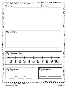 Common Core Blank Addition & Subtraction Practice K.OA.2