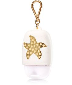 Starfish - PocketBac Holder - Bath & Body Works - Make your hands the star of the show with pearls & a gold starfish! This convenient holder attaches to your backpack, purse & more so you can always keep your favorite PocketBac close at hand. Hand Sanitizer Holder, Soap Holder, Bath N Body Works, Bath And Body, Best Home Fragrance, Perfume Recipes, Lush Bath, Body Care, Face Care